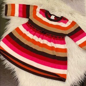 BabyGap Newborn Knit Stripe Sweater Dress